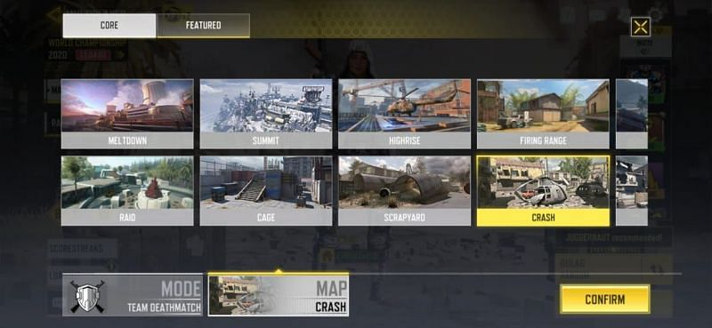 lista dos mapas presentes do COD Mobile